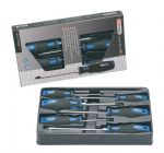 KS TOOLS 'ERGOTORQUEplus®' Slotted & POZIDRIV® Screwdriver 6 Piece Set
